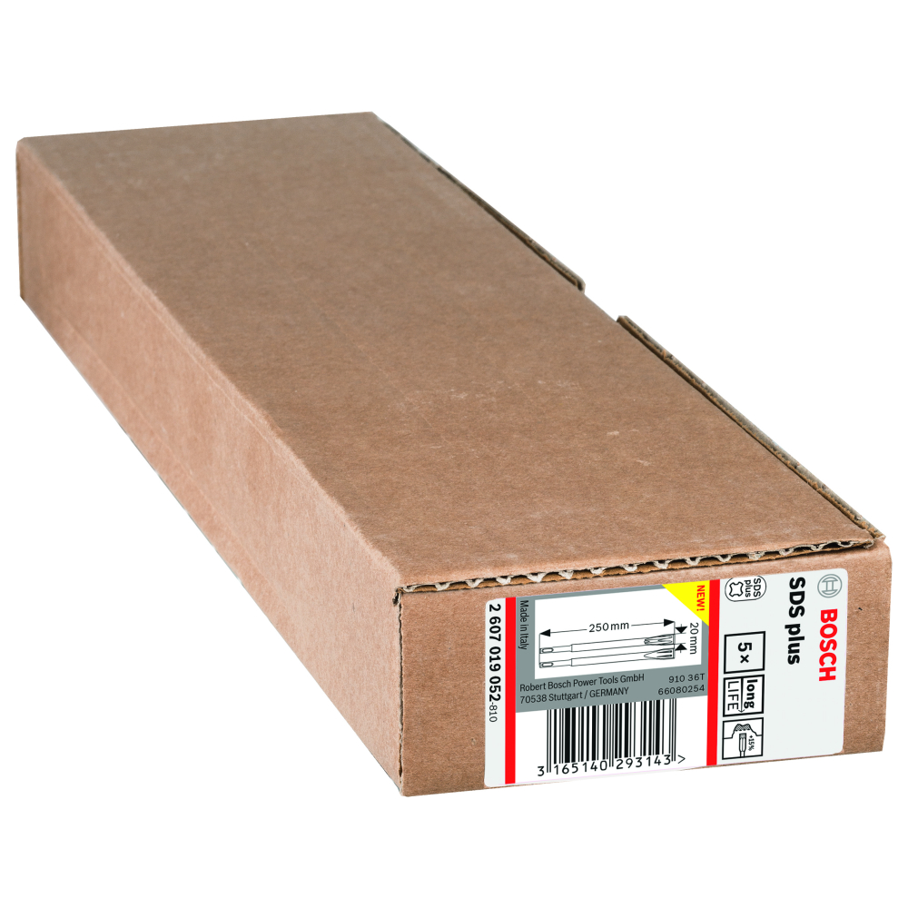 Bosch Flatmejsel SDS-Plus 250x20mm 5-pack