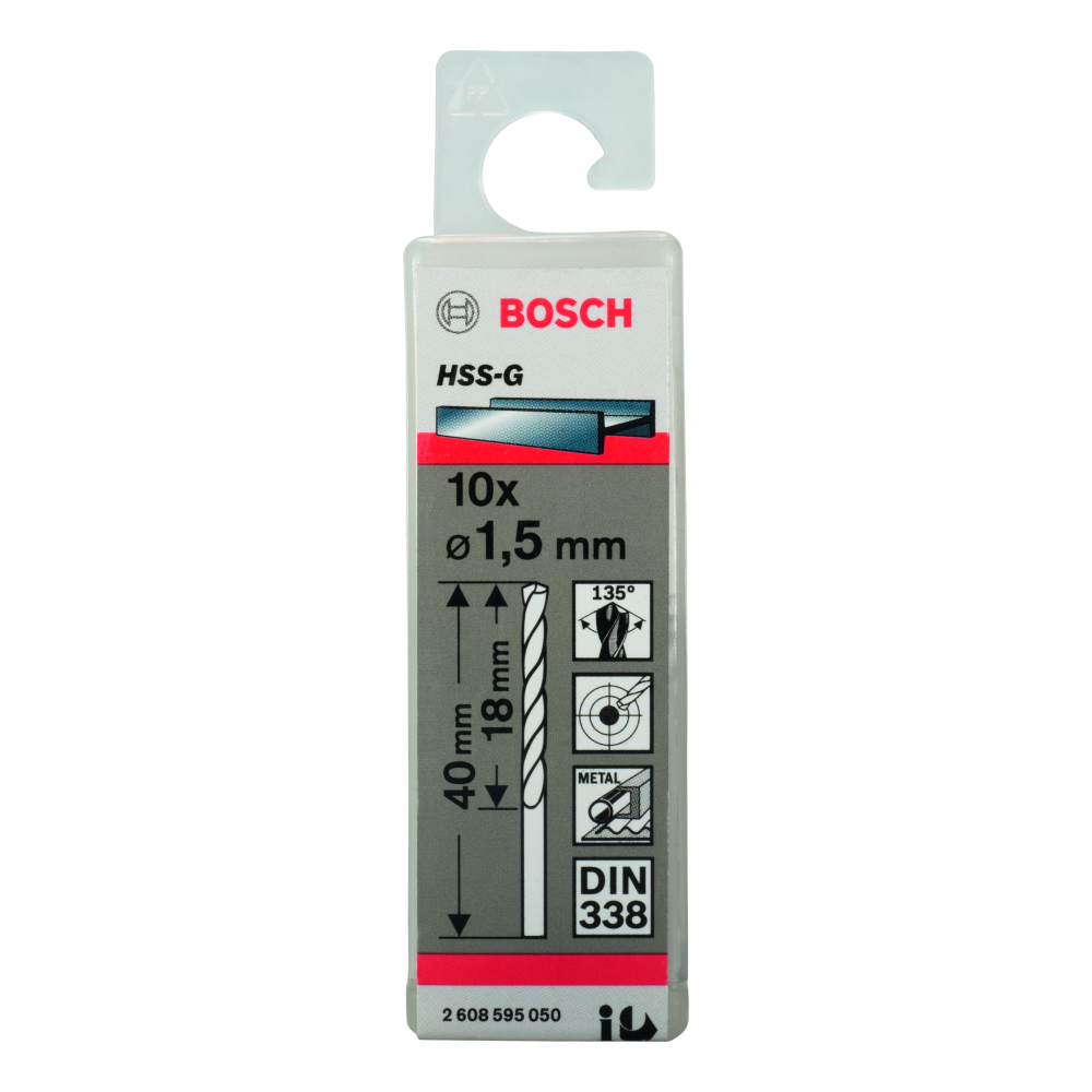 Bosch Metallborr HSS-G S 1,5x40mm 10-pack