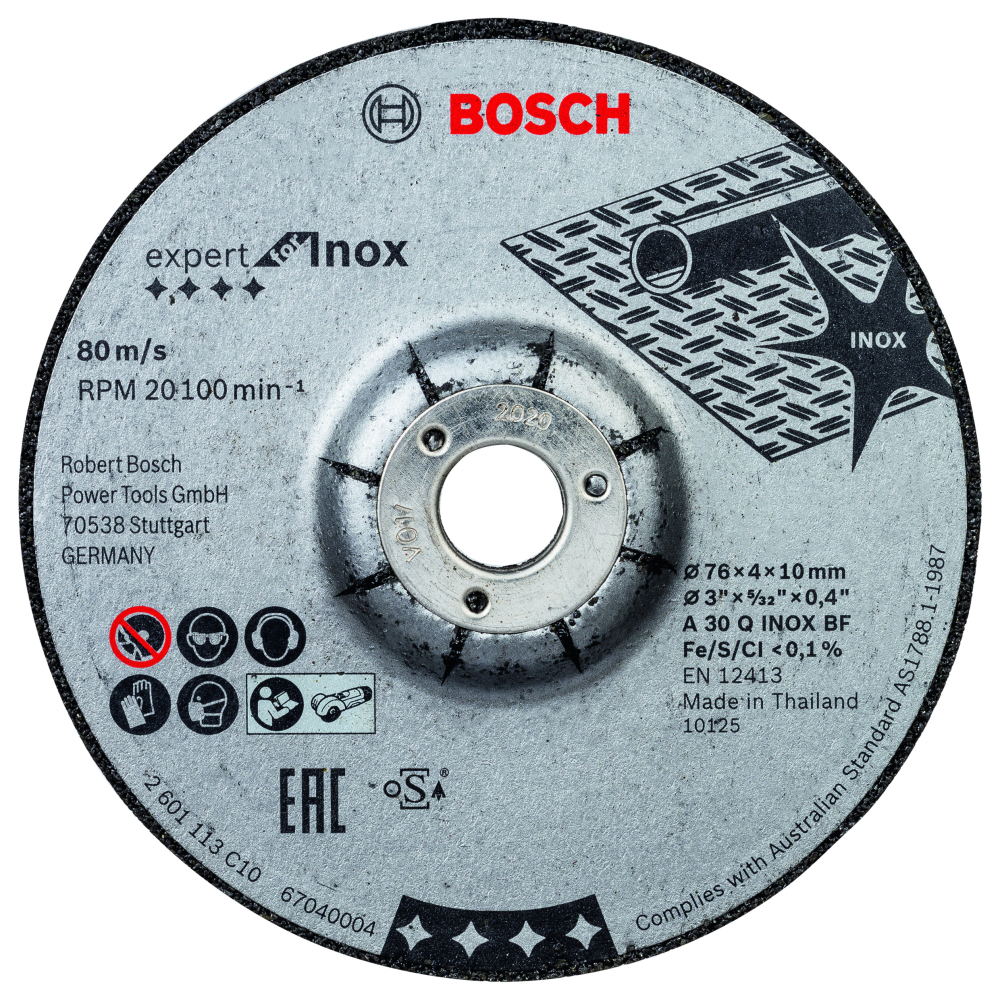 Bosch Slipskiva TILL METAL 76X4X10mm 2-pack