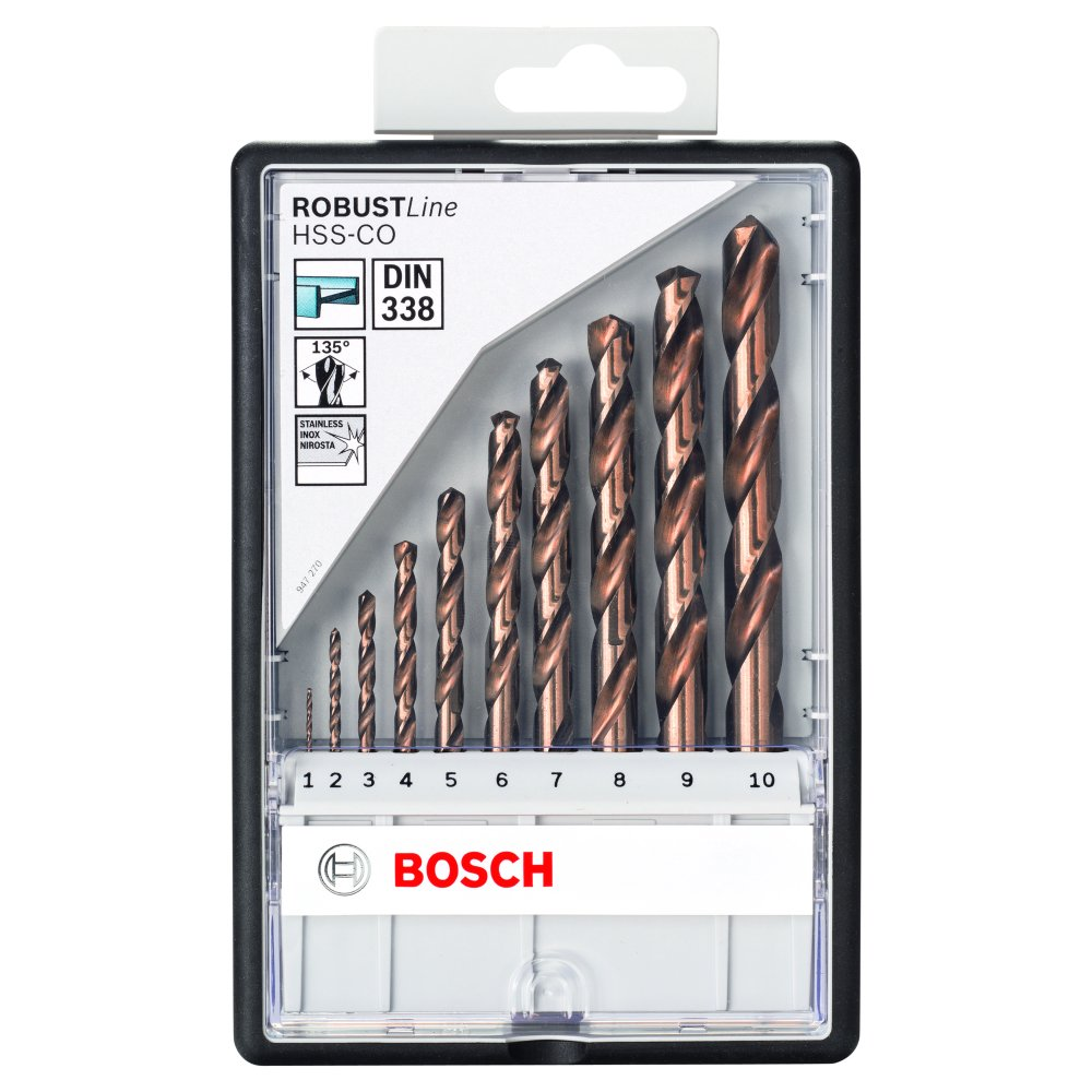 Bosch Metallborrset HSS-CO 10ST ROBUSTLINE