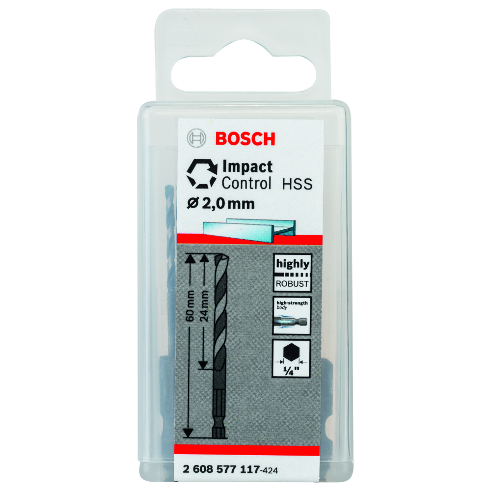 Bosch Metallborr HSS IMPACT 2mm 10-pack