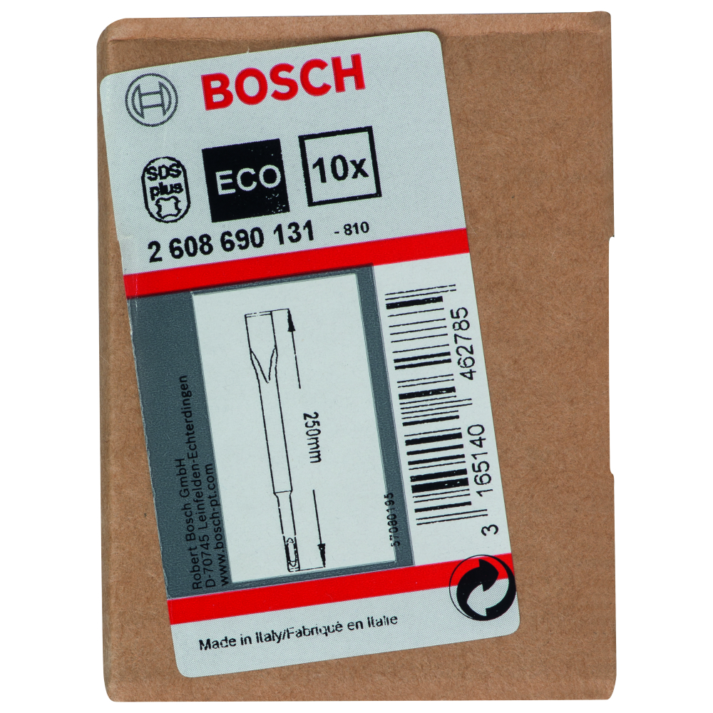 Bosch Flatmejsel SDS-Plus 20x250mm 10-pack