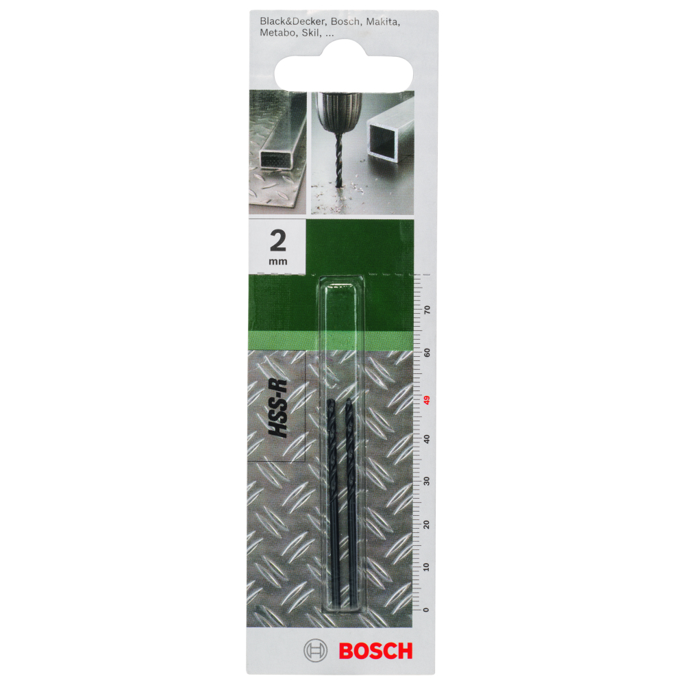 Bosch Metallborr HSS-R 2,0mm 2-pack