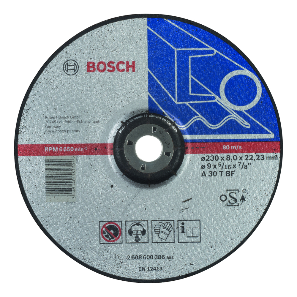 Bosch Expert for Metal Slipskiva Rak 230x22,23x8mm Metall