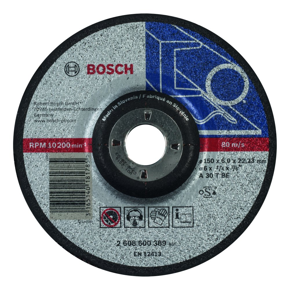 Bosch Expert for Metal Slipskiva Försänkt K30 150x22,23x6mm Metall