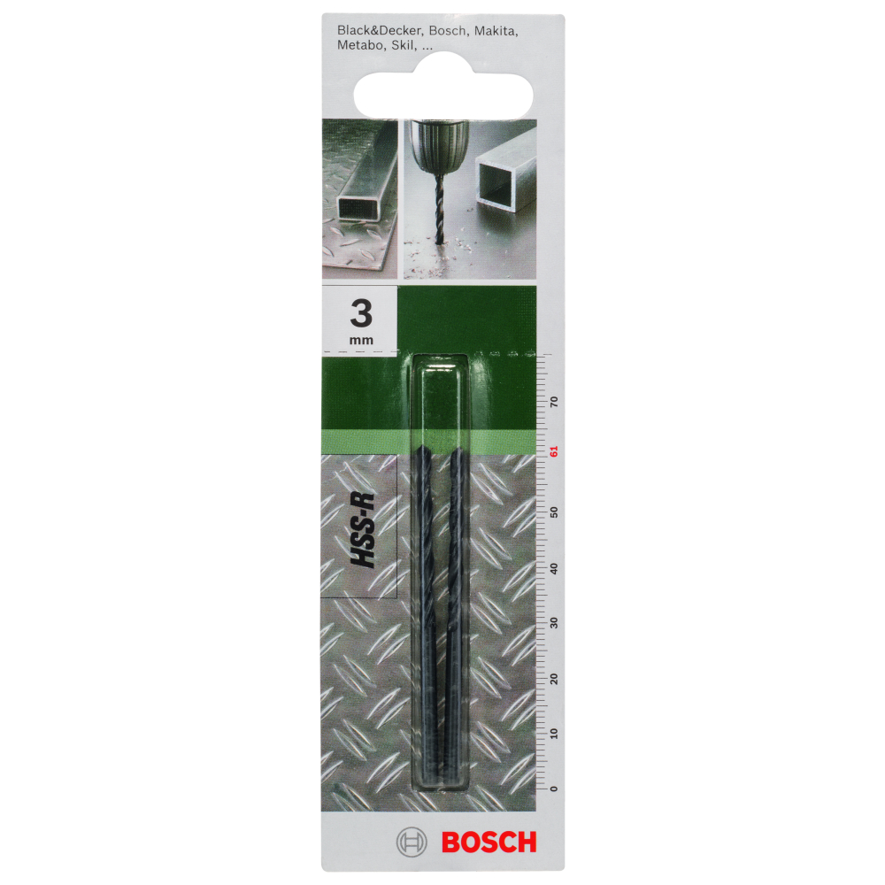 Bosch Metallborr HSS-R 3,0mm 2-pack
