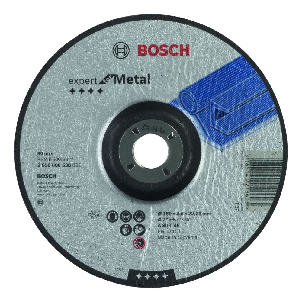 Bosch Expert for Metal Slipskiva Försänkt 180x22,23x4,8mm Metall