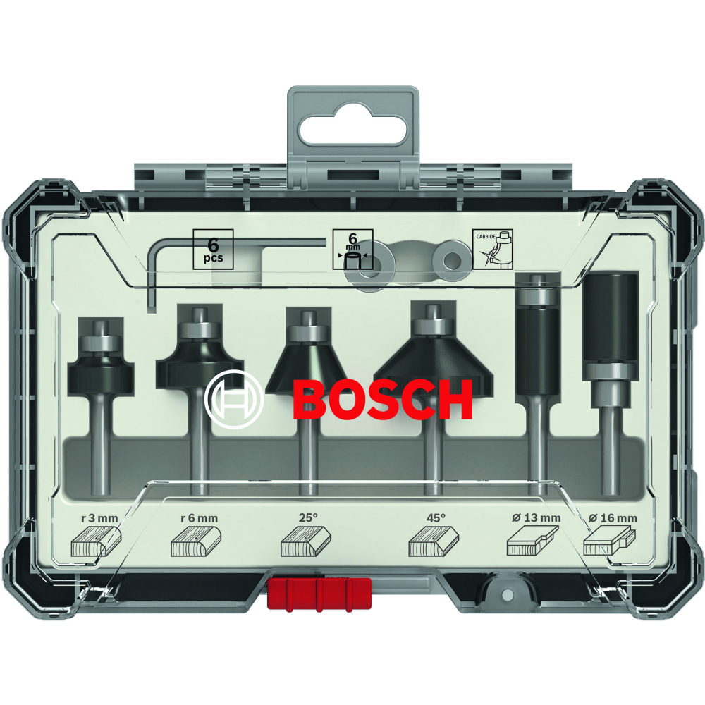Bosch Frässtålset HM Mixed 6mm 6-pack