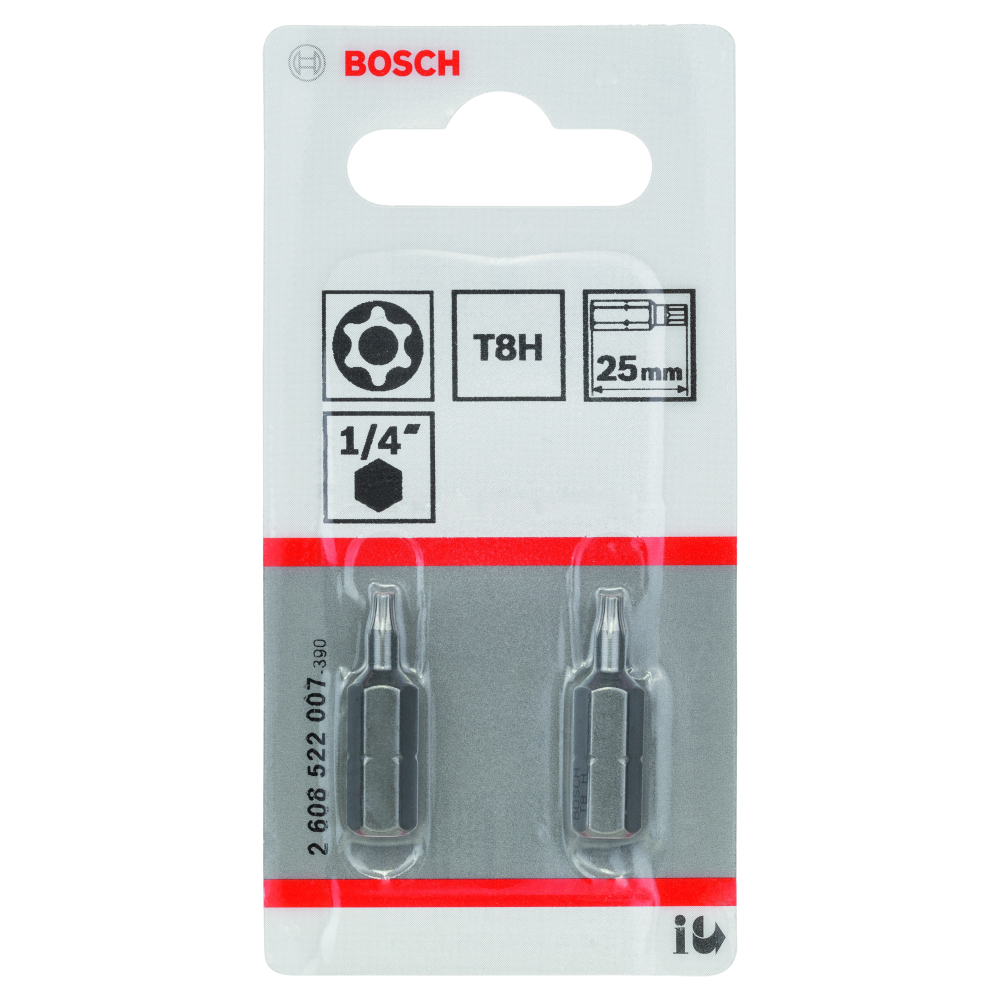 Bosch Bits T8 SECURITY TORX 2-pack