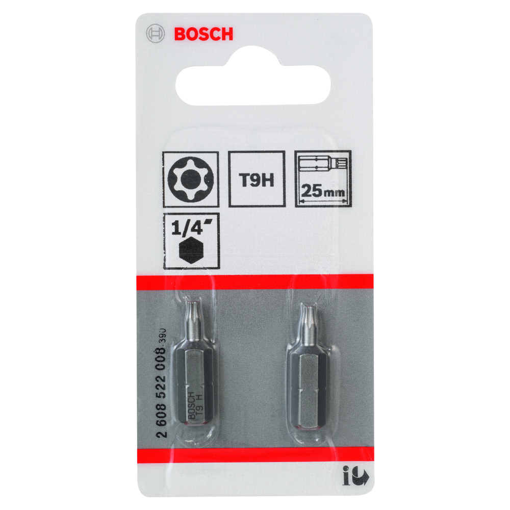 Bosch Bits T9 SECURITY TORX 2-pack