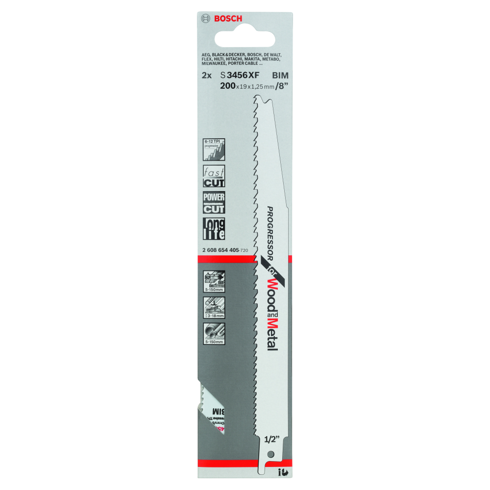 Bosch Progressor for Wood and Metal S3456XF Tigersågblad 200mm 2-pack