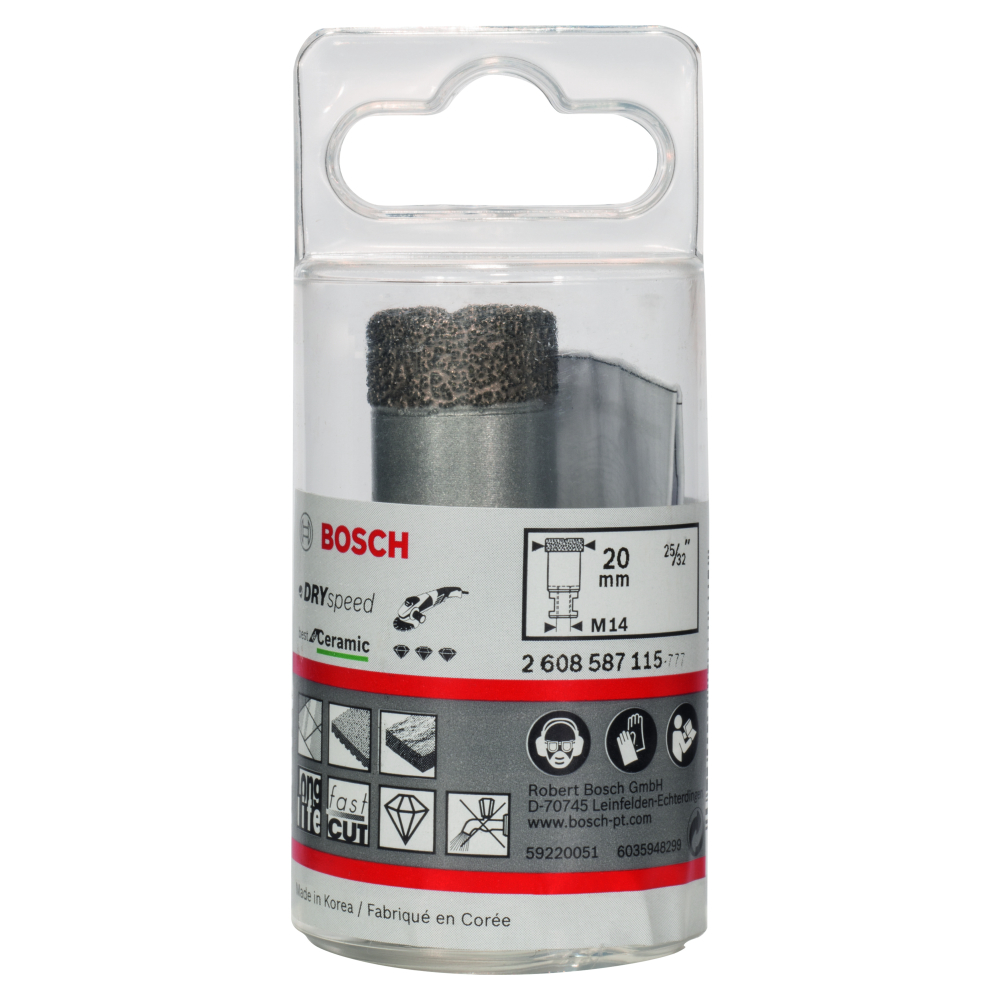 Bosch Diamanthålsåg 20mm DRYSPEED
