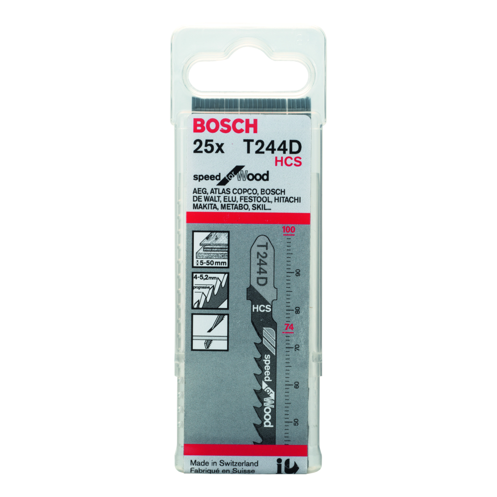 Bosch Speed for Wood T244D Sticksågblad 100mm 25-pack