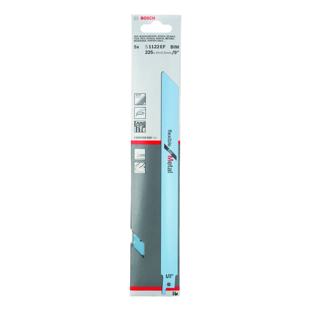 Bosch Flexible for Metal S1122EF Tigersågblad 225mm 5-pack