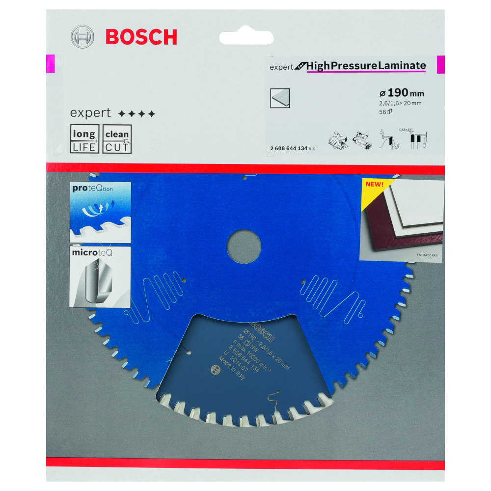 Bosch Expert for High Pressure Laminate Sågklinga 190x2,6x20mm 56T