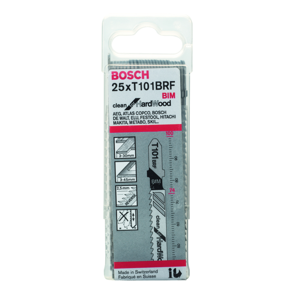 Bosch Clean for Hard Wood T101BFR Sticksågblad 100mm 25-pack
