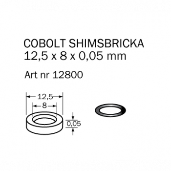 Cobolt Shims-bricka 12,5x8x0,05 mm